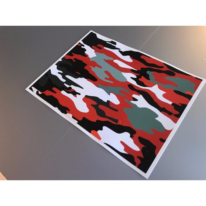 "Stickers ""Camo red """