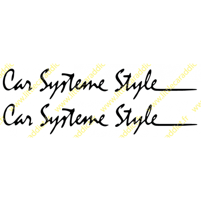 Stickers Car systeme Style