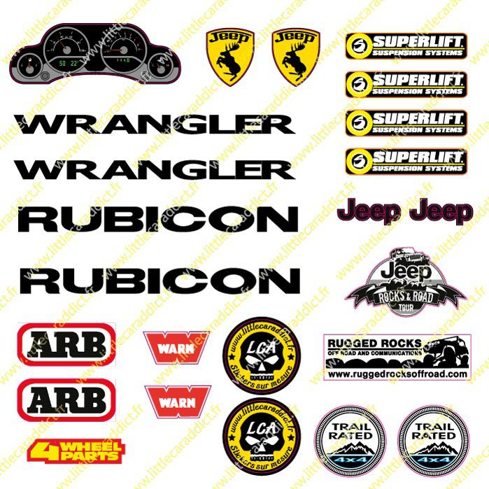 "Stickers ""Jeep compteur sponsors"""