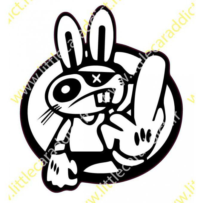 Stickers Crazy rabbit