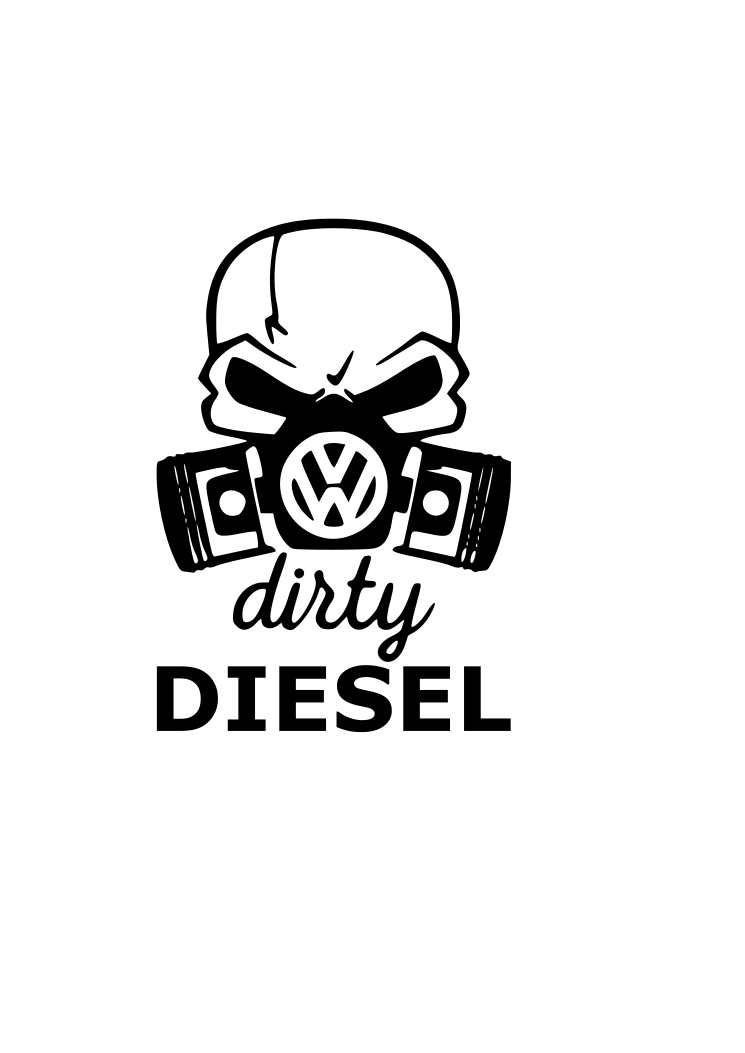 "Stickers ""VW dirty diesel"""