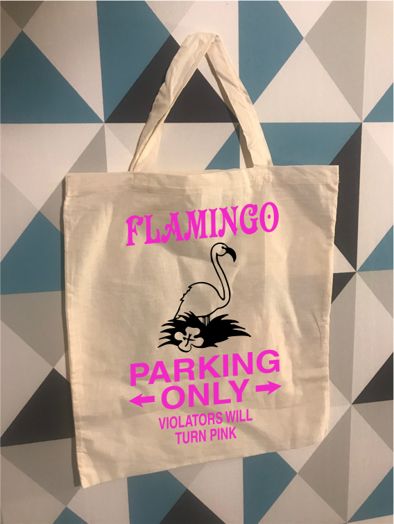 Tote Bag Flamingo Parking