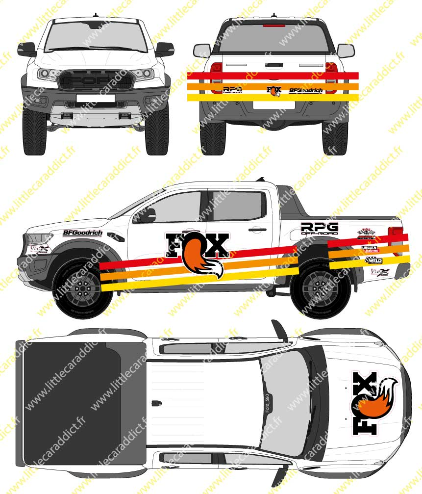 Planche  FOX RPG Offroad