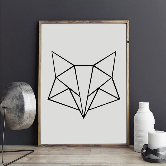 "Stickers ""Geometric Fox 2"""
