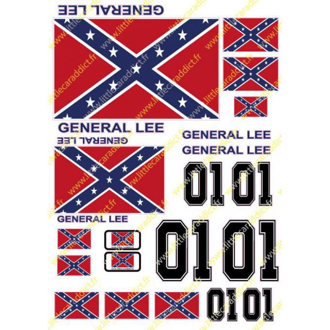 Stickers General Lee A4