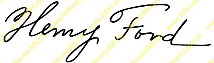 "Stickers ""Signature Henry FORD"""