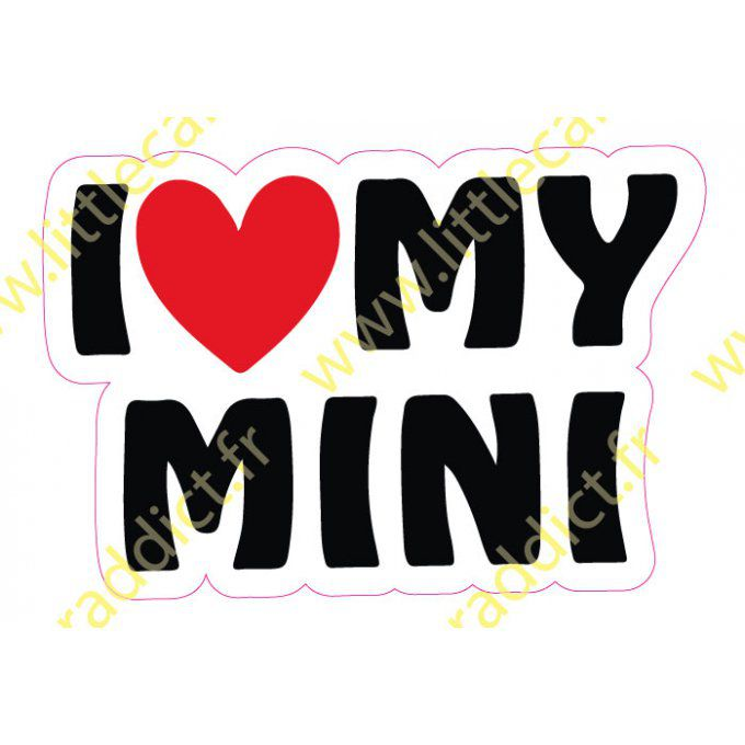 Stickers I love my mini
