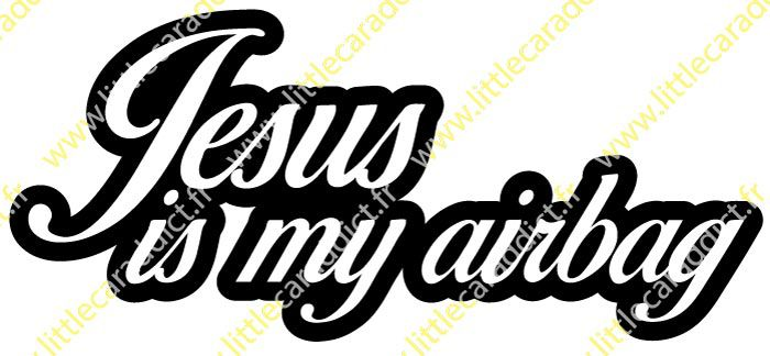 "Stickers ""Jesus is my airbag2"""