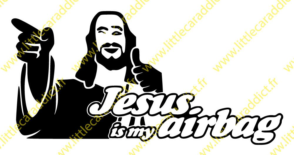 "Stickers ""Jesus is my airbag"""