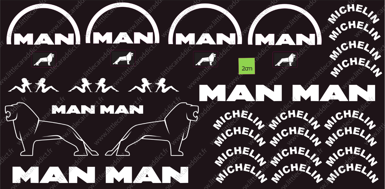 "Stickers ""RC truck  Man Michelin """