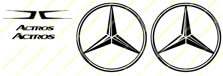 Stickers  Mercedes Actros 1