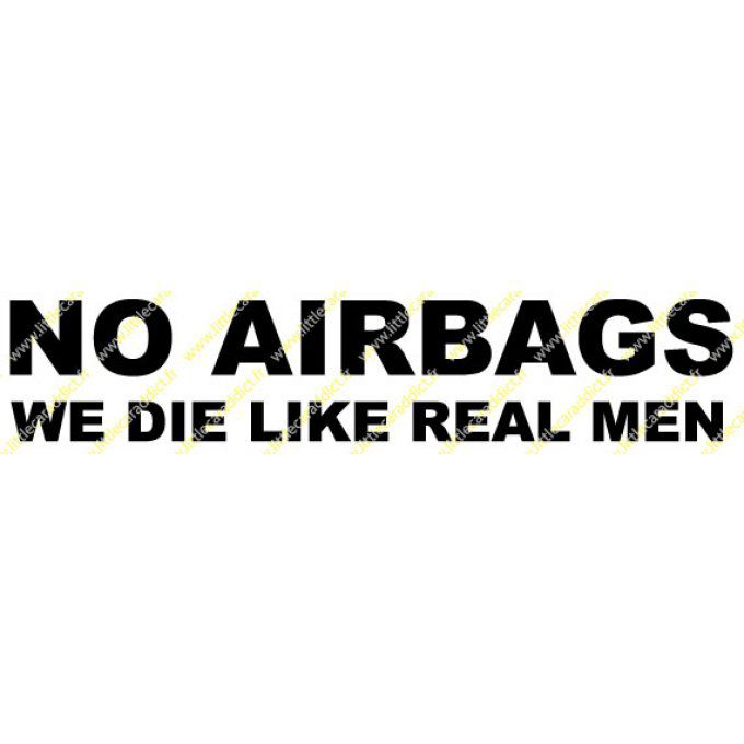 "Stickers ""NO AIRBAGS"""
