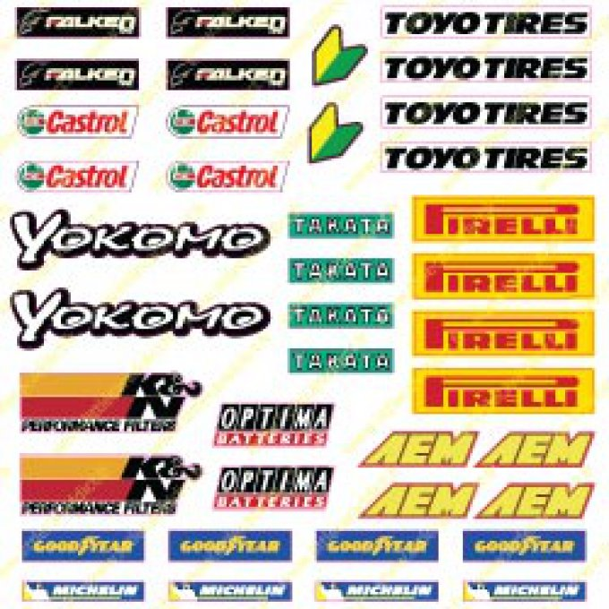 "Stickers ""Sponsor RC Drift 2 small """