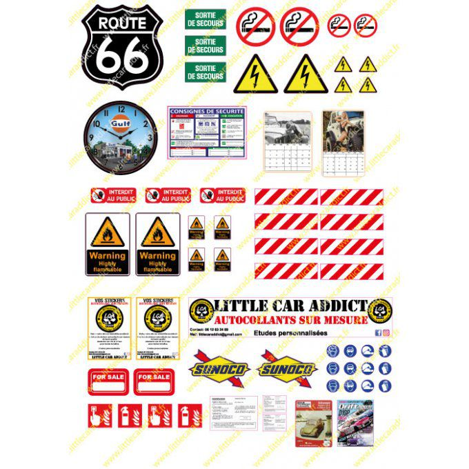 Stickers Garage A4