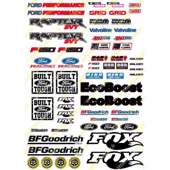 "Stickers ""RC ford A4 Baja V2"""