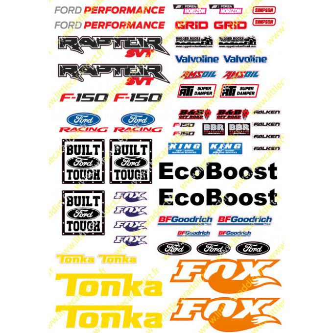"Stickers ""RC ford A4 Baja"""