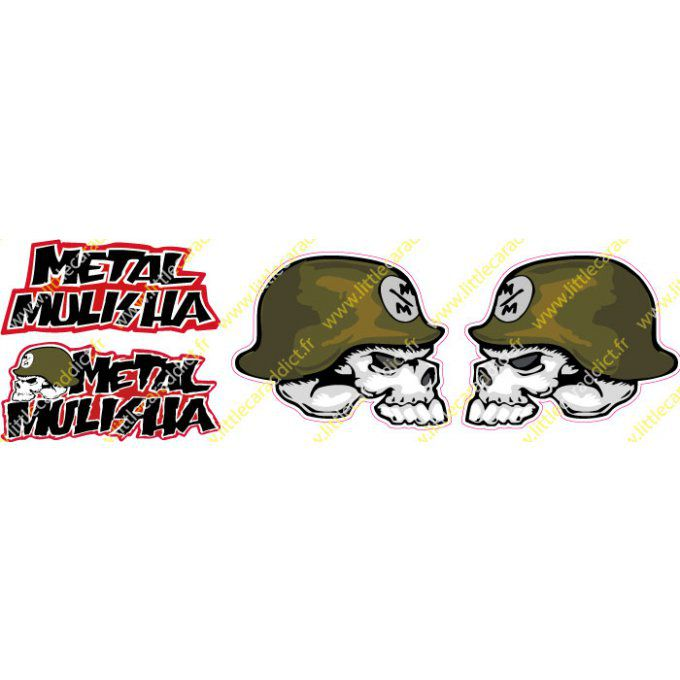 Stickers métal mulisha 1