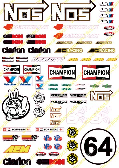 "Stickers ""RC Drift NOS"""