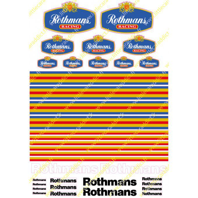 Planche Rothmans Racing A4