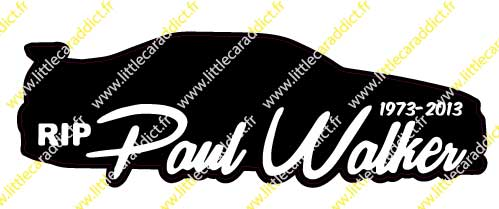 Stickers RIP Paul Walker 1