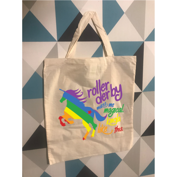 Tote Bag unicorn roller derby