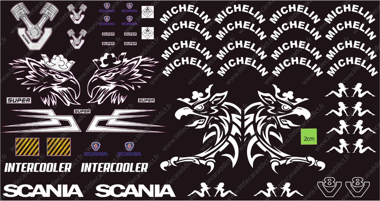 "Stickers ""RC truck Scania Michelin """