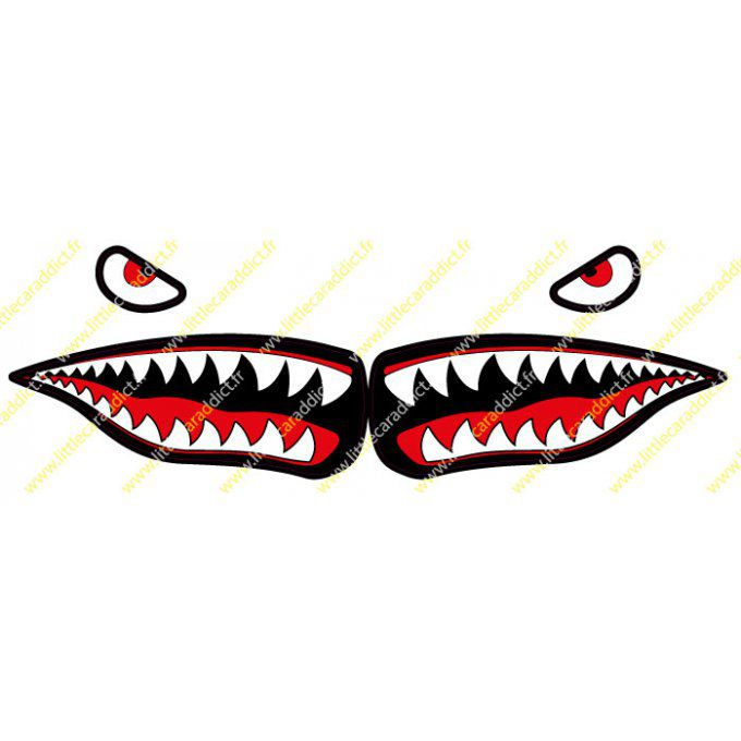 "Stickers ""shark teeth 1"""