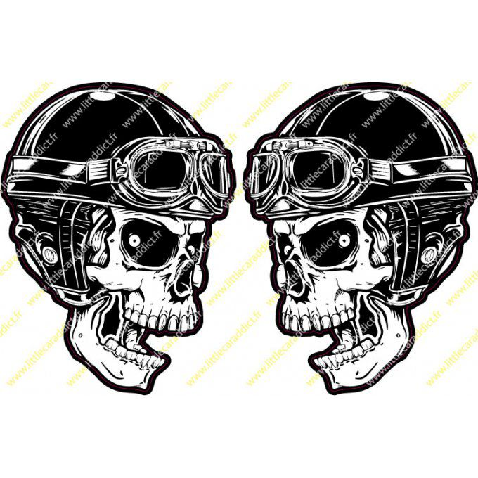 Stickers skull helmet 1