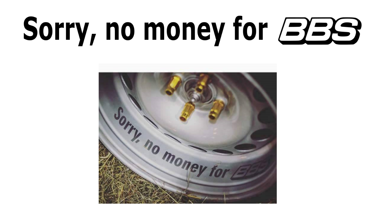 "Stickers ""Sorry, no money for BBS"""
