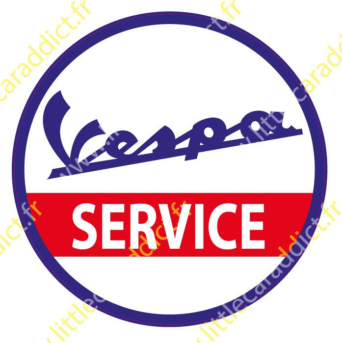 Stickers Vespa service