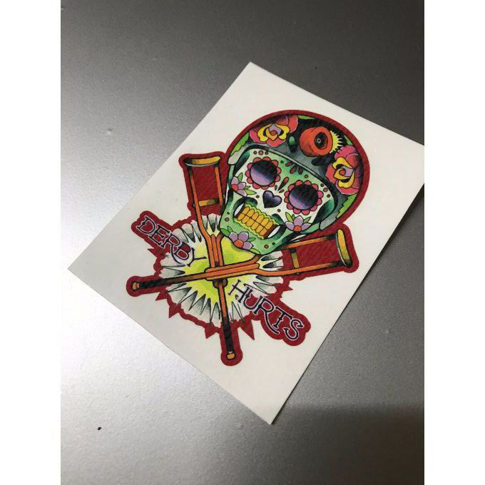 "Stickers ""Skull muerto derby1"""